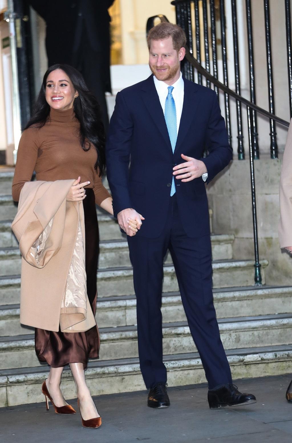 Meghan Markle, Książę Harry na oficjalnym wystąpieniu.