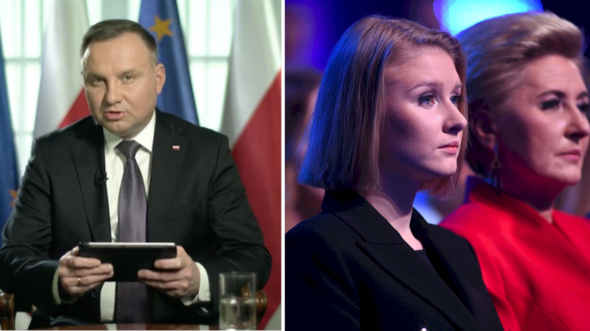 """Andrzej Duda zdradza status związku swojej córki! """"Zawsze Pan może próbować""""."""