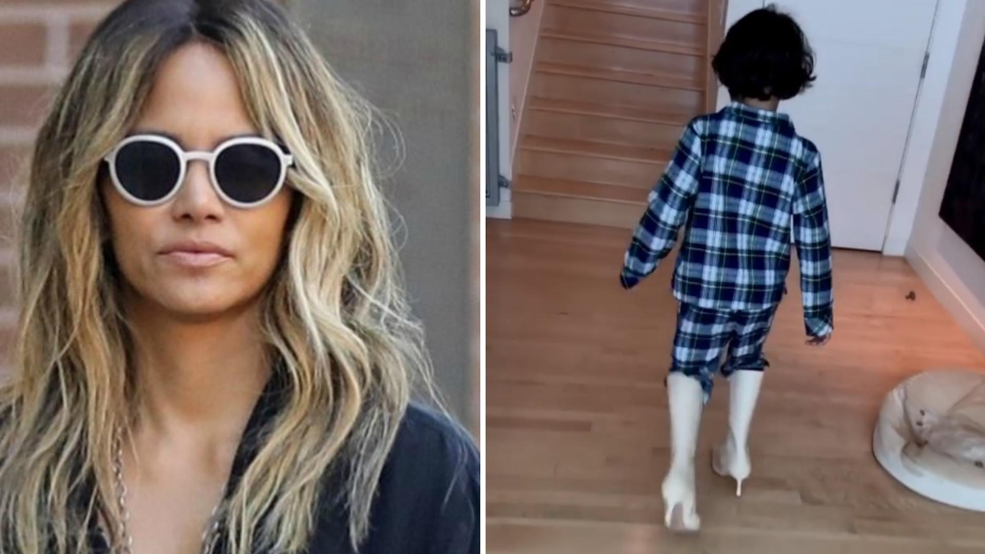 Syn Halle Berry chodzi w jej butach na obcasie. Aktorka zmierzyła się z KRYTYKĄ