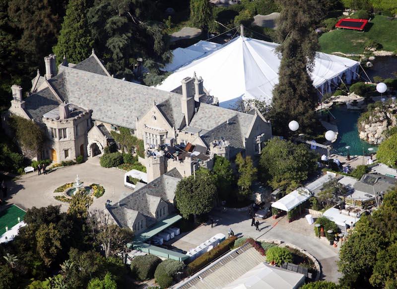 Playboy Mansion przed renowacją przed renowacją