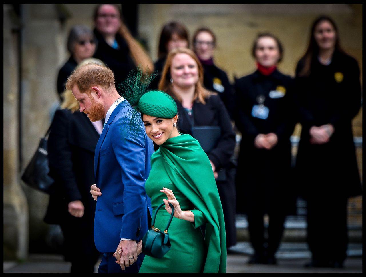 Książę Harry i Meghan Markle podczas ostatniej przed epidemią wizyty w Wielkiej Brytanii