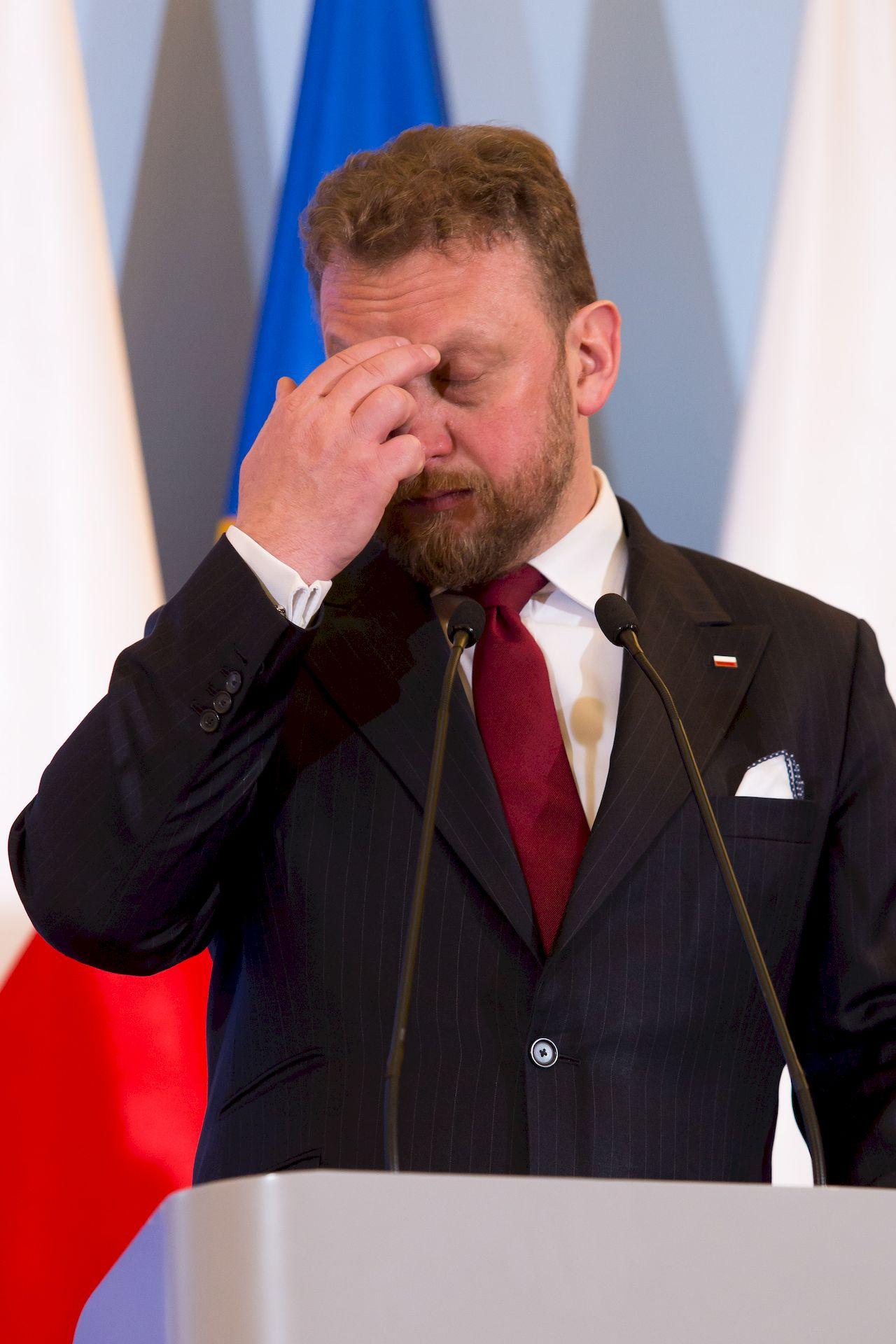 Łukasz Szumowski na konferencji