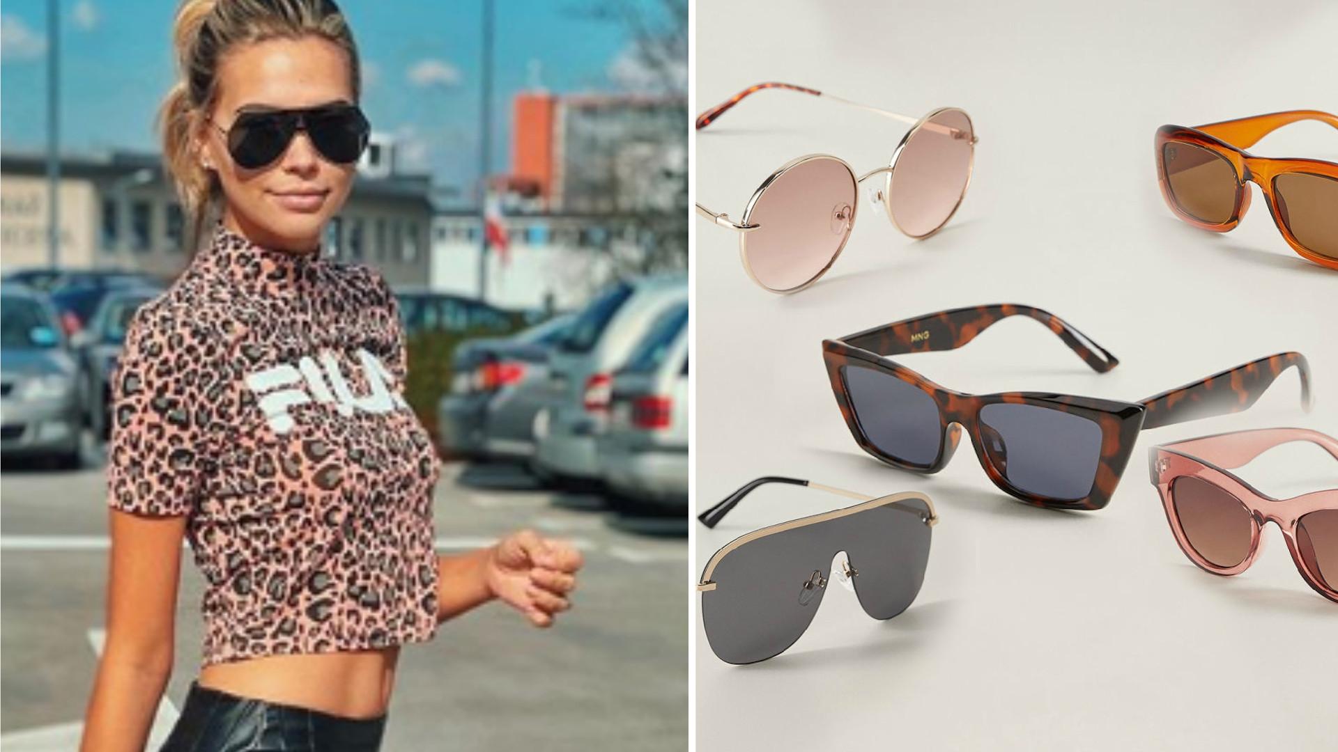 Świetny dodatek – okulary przeciwsłoneczne. Mamy model podobny do tego Sandry Kubickiej