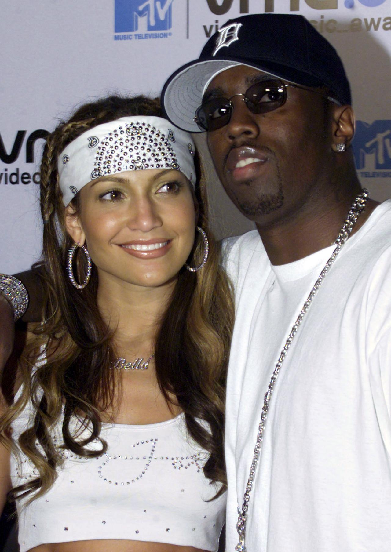 Jennifer Lopez i raper Diddy gdy byli parą.
