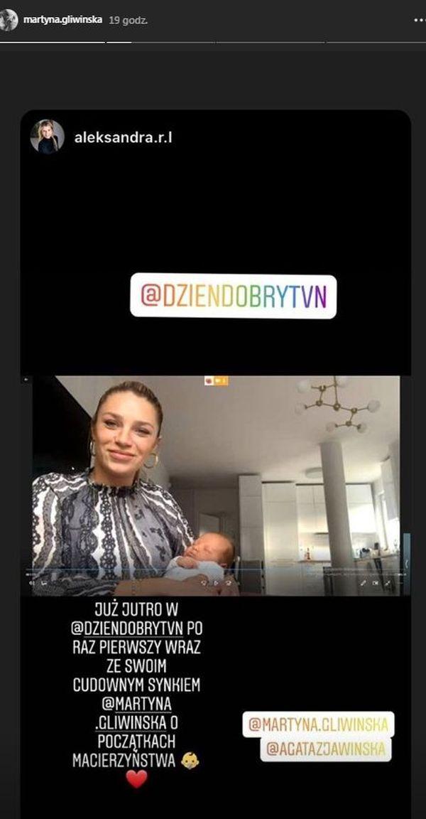 Martyna Gliwińska z synkiem Kaziem w Dzień Dobry TVN
