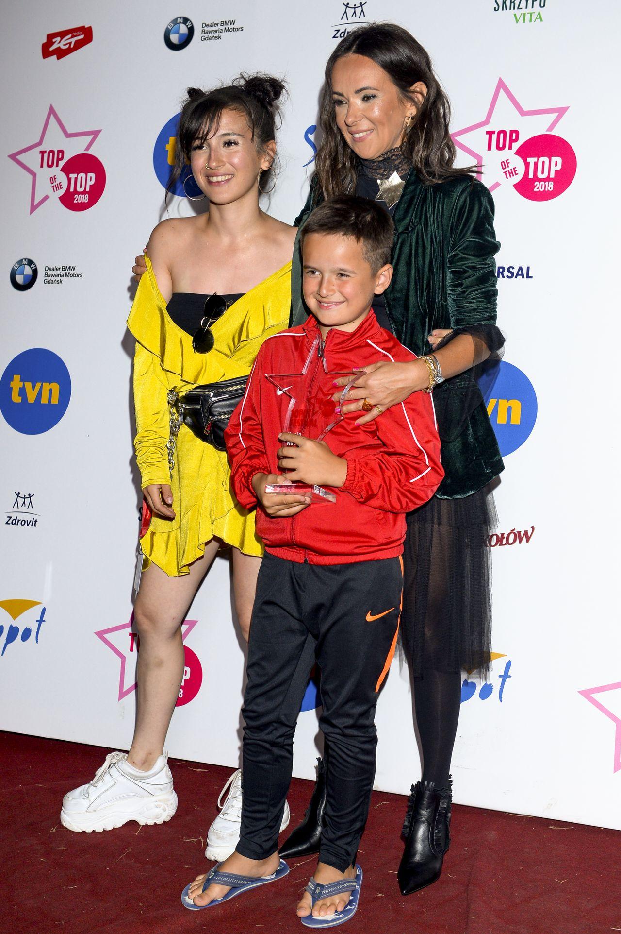 Kasia Kowalska z dziećmi