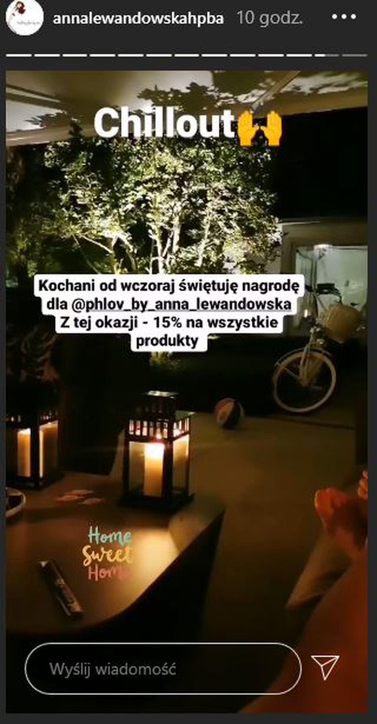 Anna Lewandowska pokazała taras