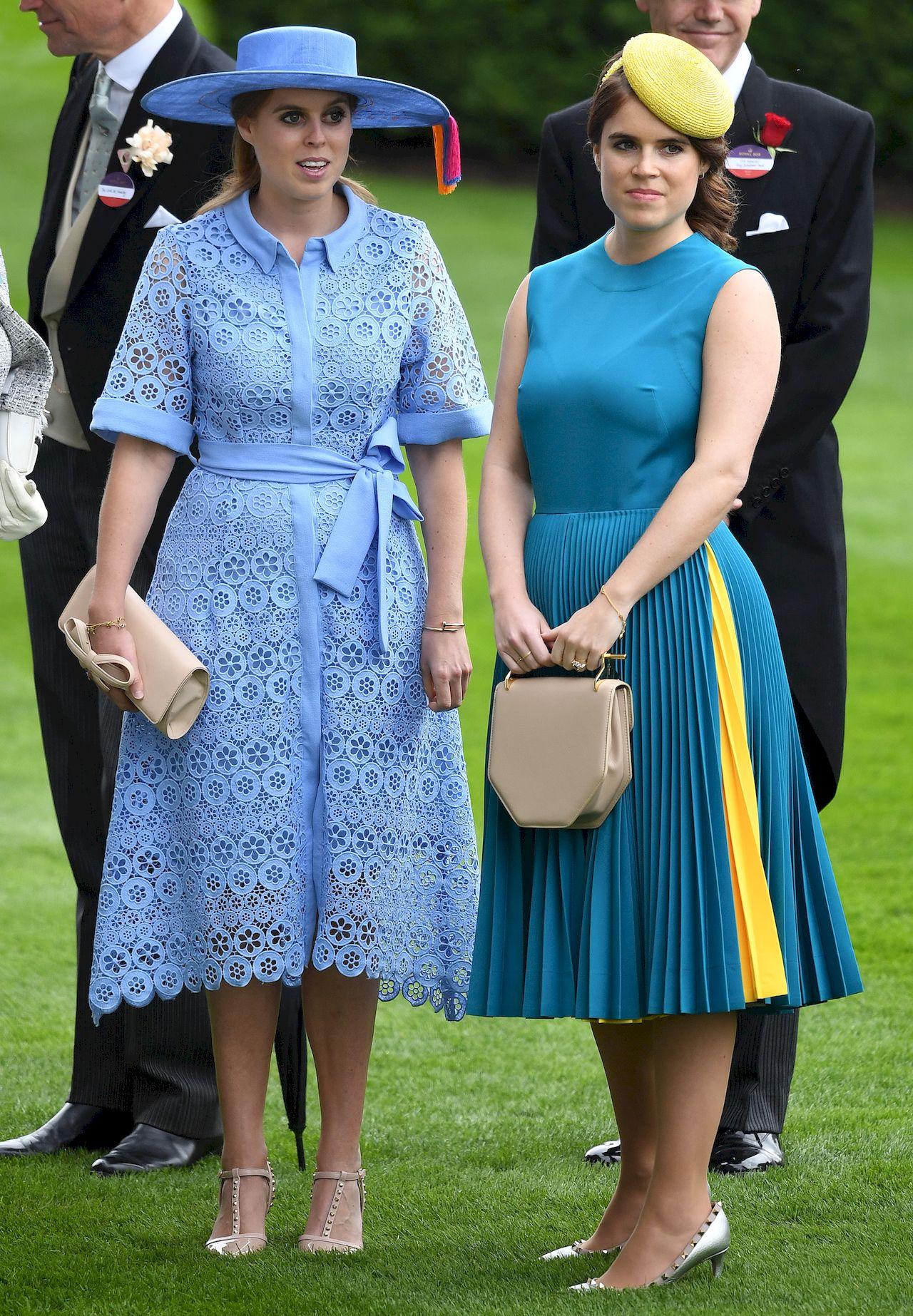 Księżniczki Eugenia i Beatrice na Royal Ascot