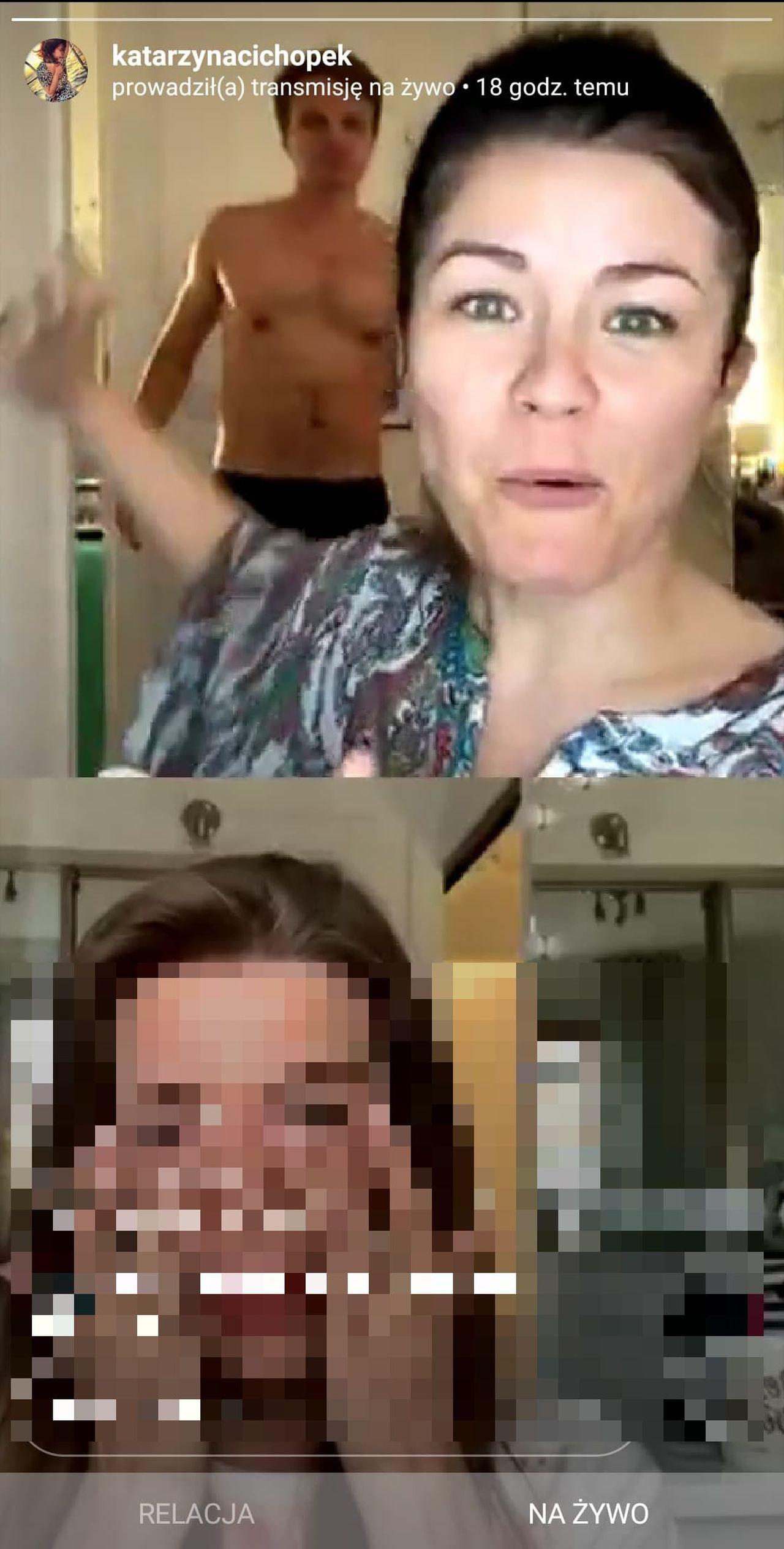 Katarzyna Cichopek na relacji live