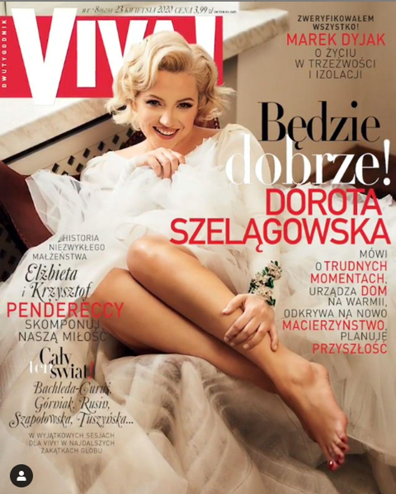 """Dorota Szelągowska na okładce """"Vivy!"""""""