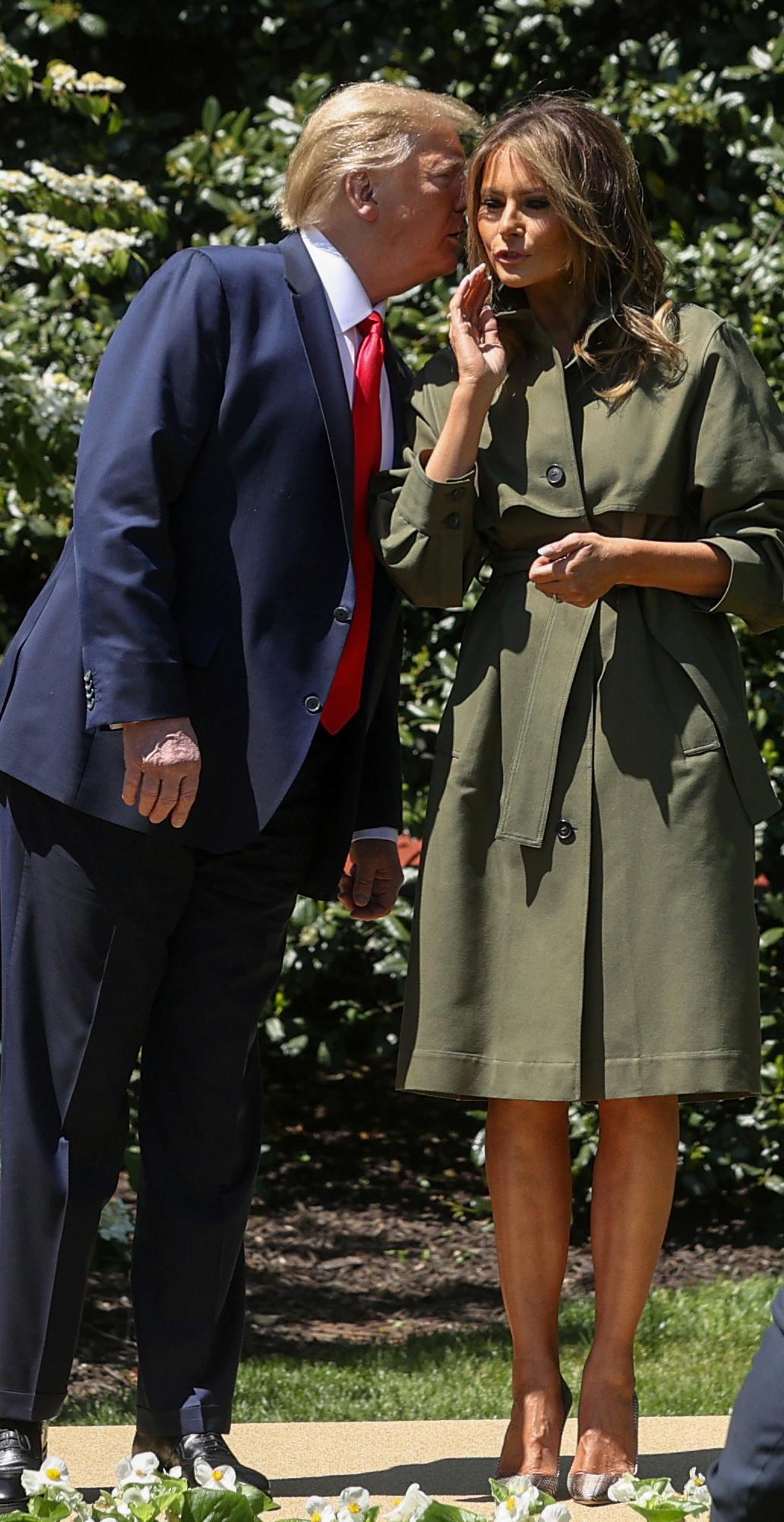 Melania Trump i Donald Trump. Model Release: no, Credit line: JONATHAN ERNST / Reuters / Forum