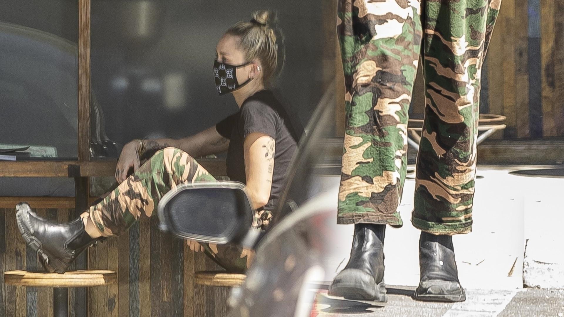 Miley Cyrus z Codym Simpsonem na kawie w maseczkach
