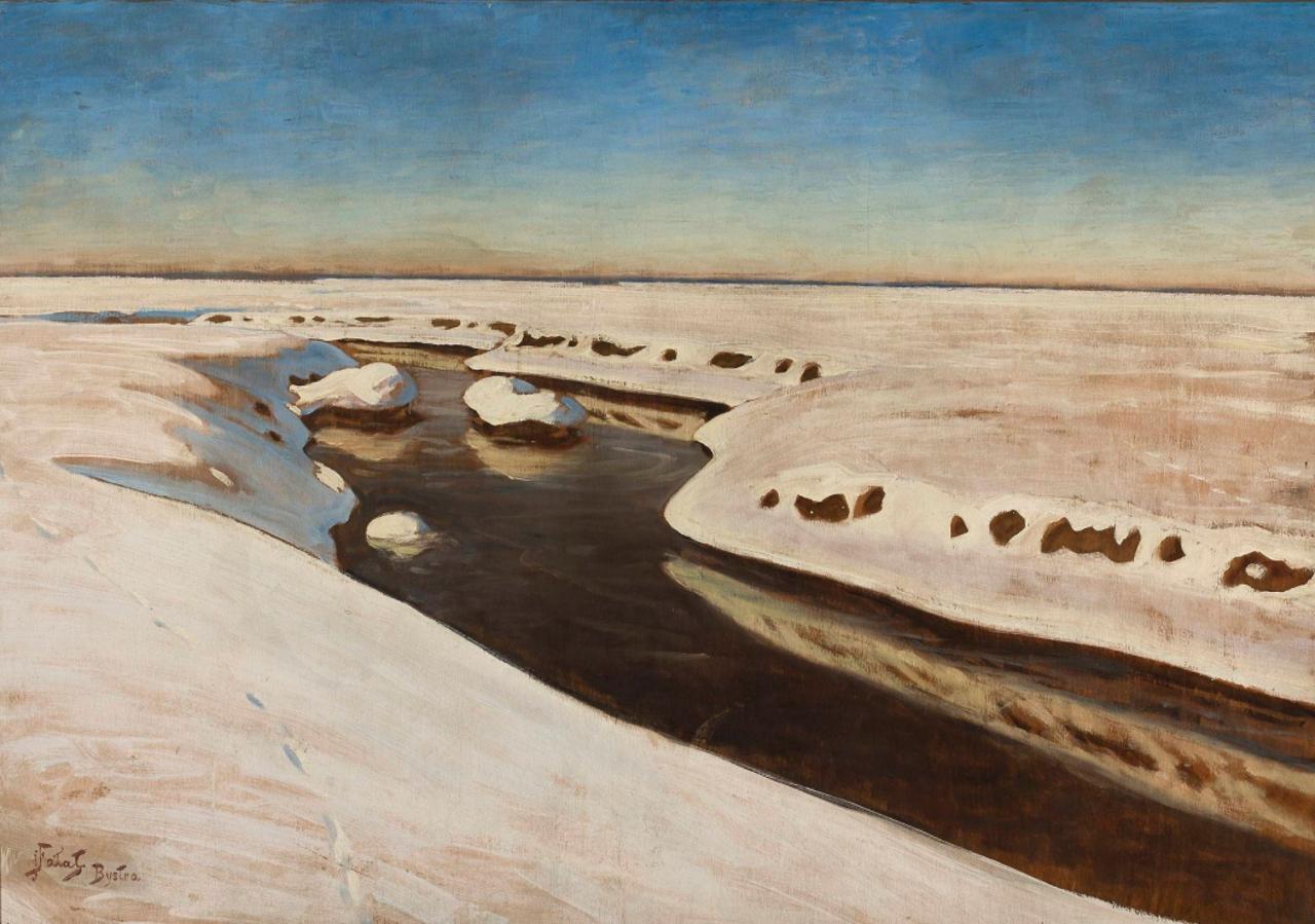 """Julian Fałat, """"Pejzaż z Bystrej"""", po 1918."""