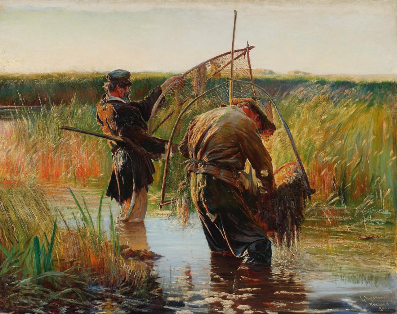 """Leon Wyczółkowski, """"Rybacy"""", 1891"""