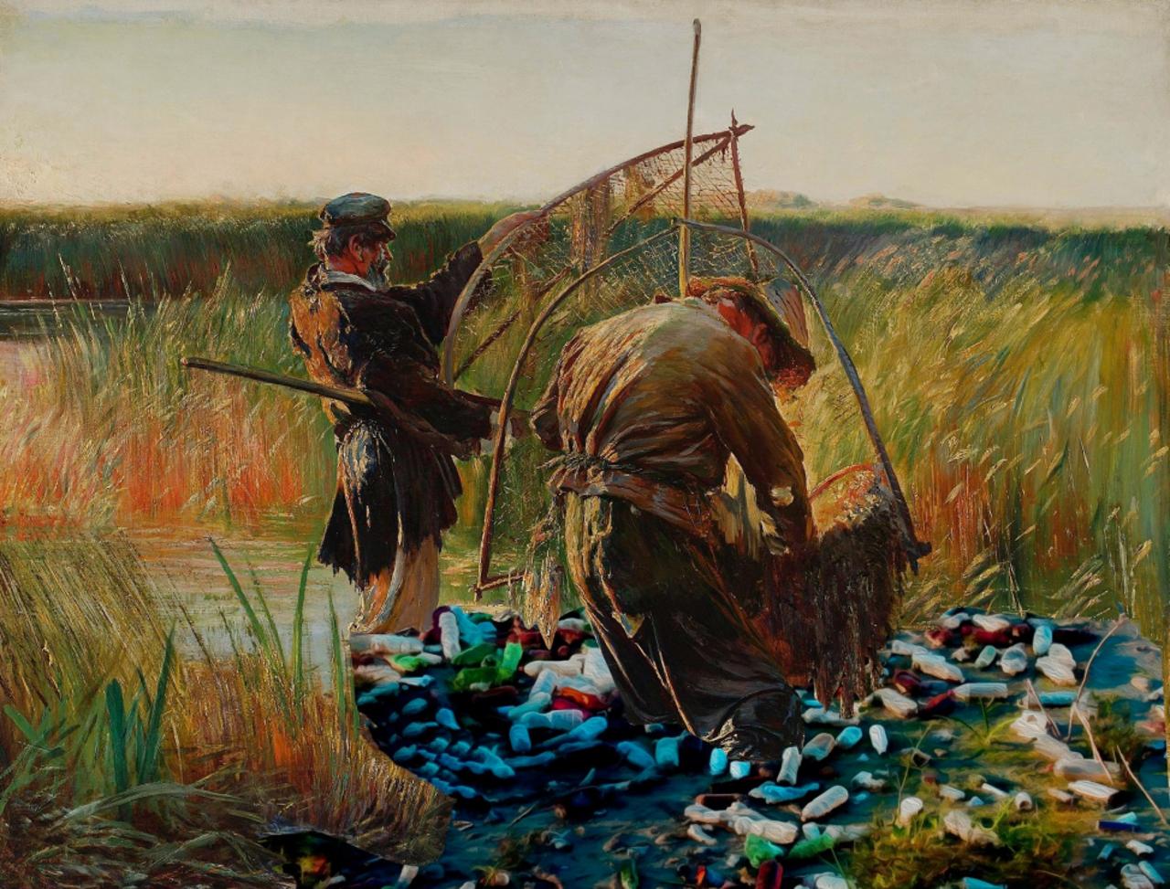 """Interpretacja Leona Wyczółkowskiego """"Rybacy""""."""