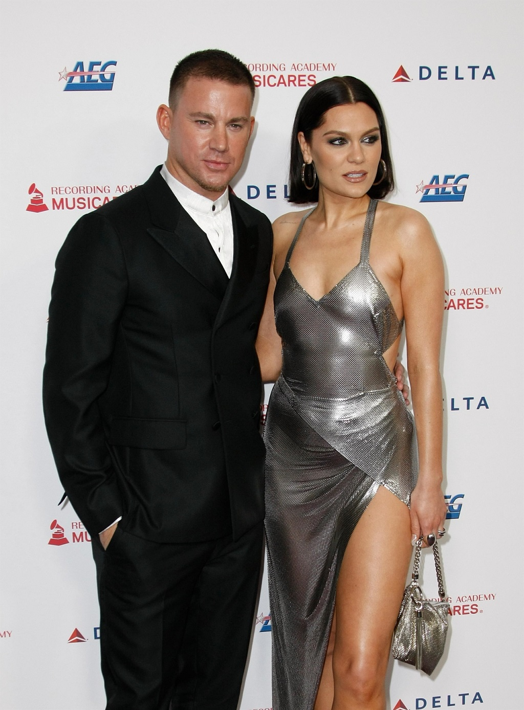 Channing Tatum i Jessie J na ściance, wtedy byli parą.