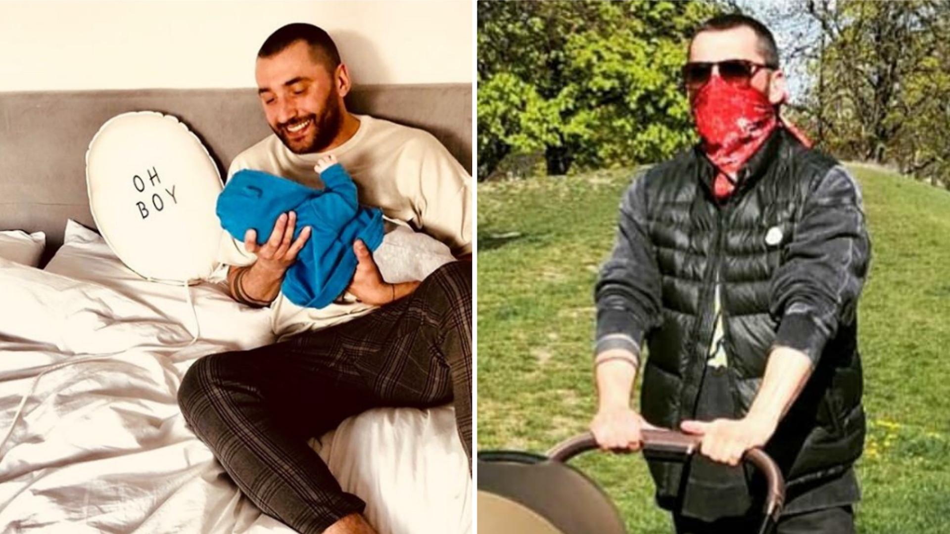 Rafał Maserak zabrał dziecko na spacer. Przy okazji pokazał WÓZEK syna