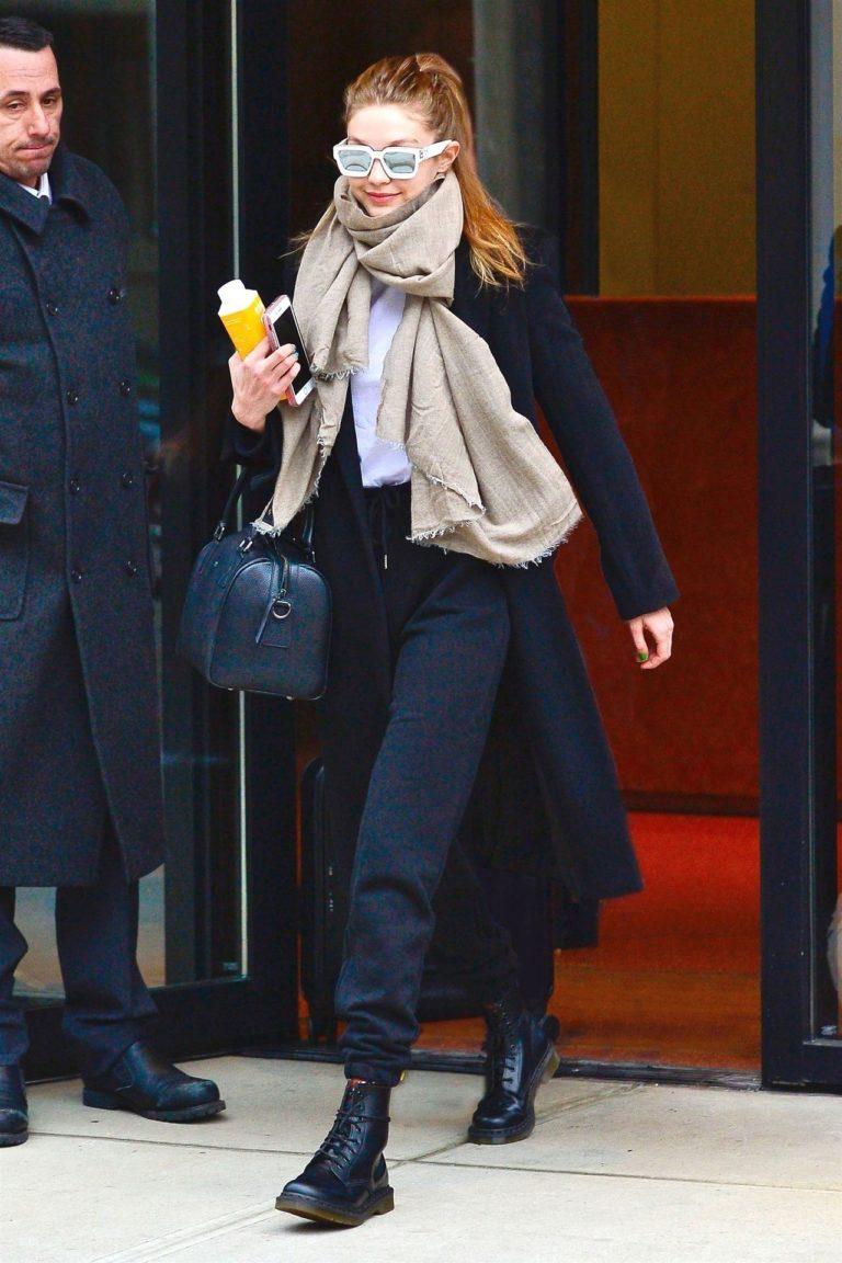 Gigi Hadid w codziennej stylizacji.