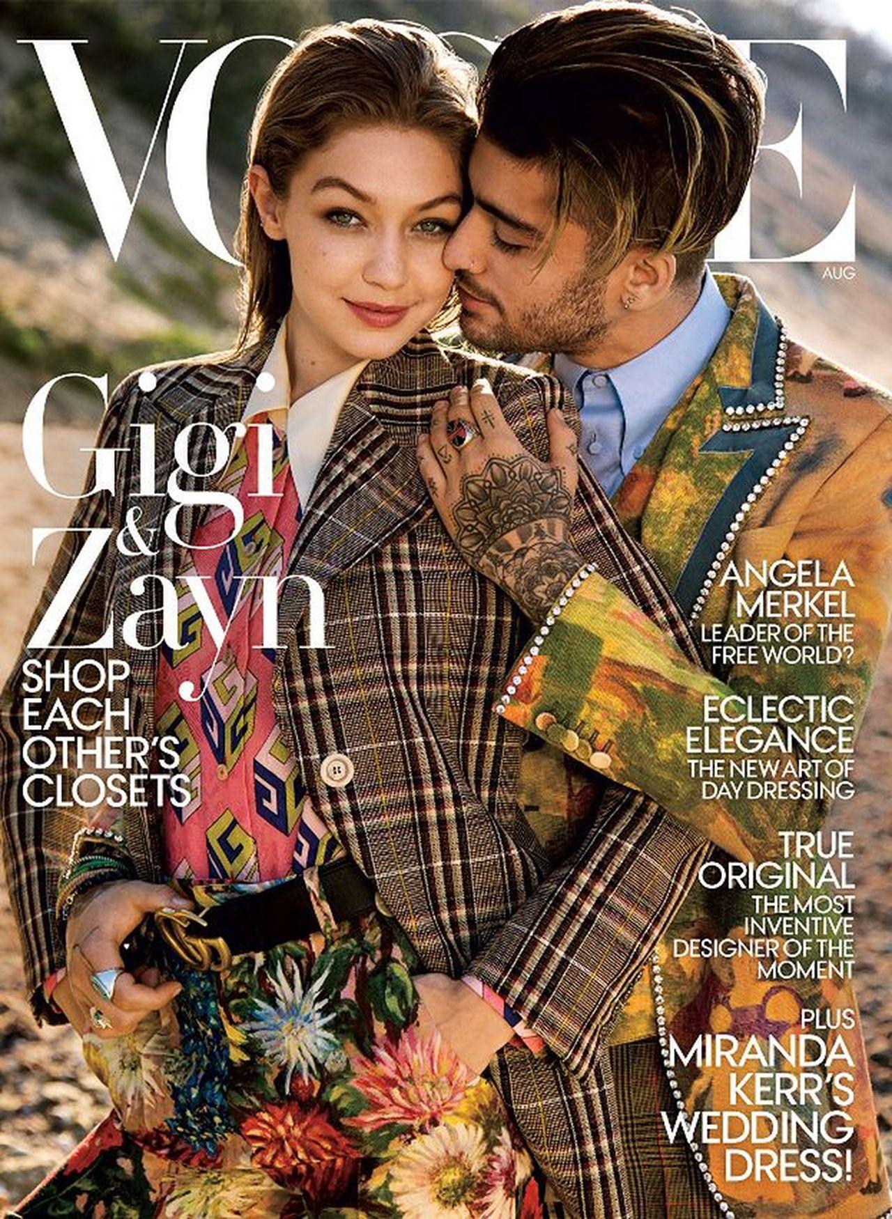 Gigi i Zayn na okładce Vogue