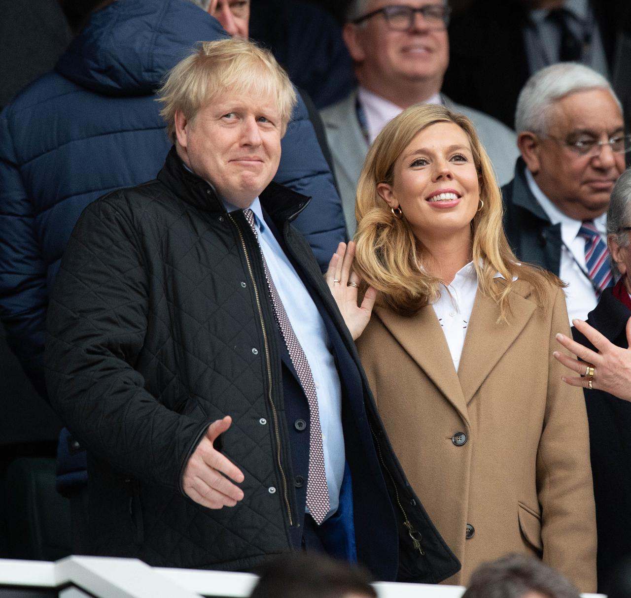 Boris Johnson z narzeczoną na oficjalnym wydarzeniu.