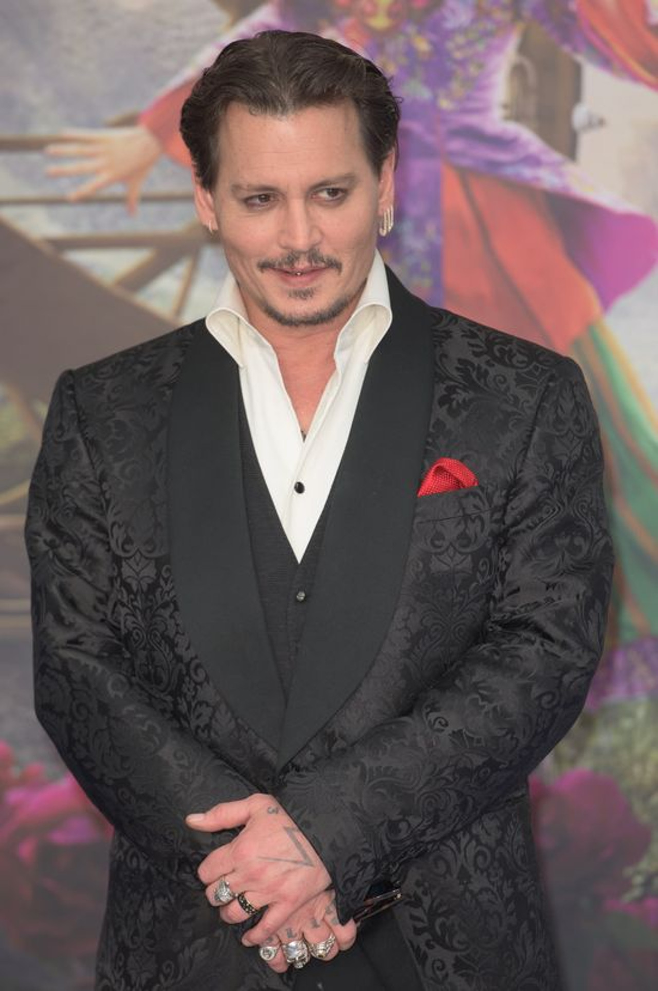 Johnny Depp na premierze filmu.