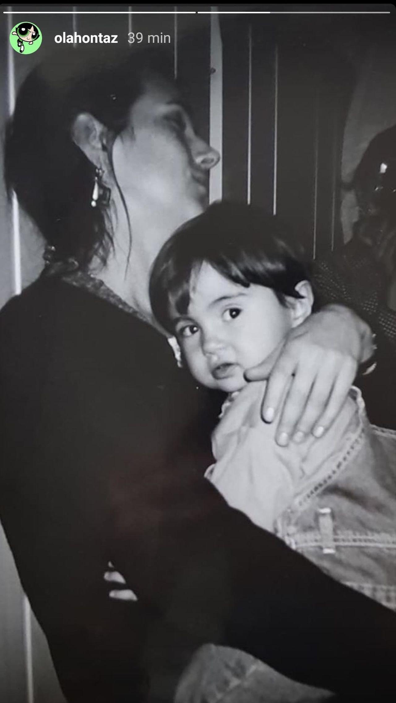 Kasia Kowalska z córką na starym zdjęciu