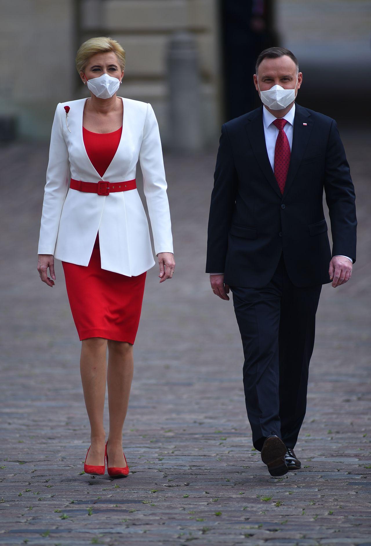 Andrzej Duda z żoną, Agatą Dudą