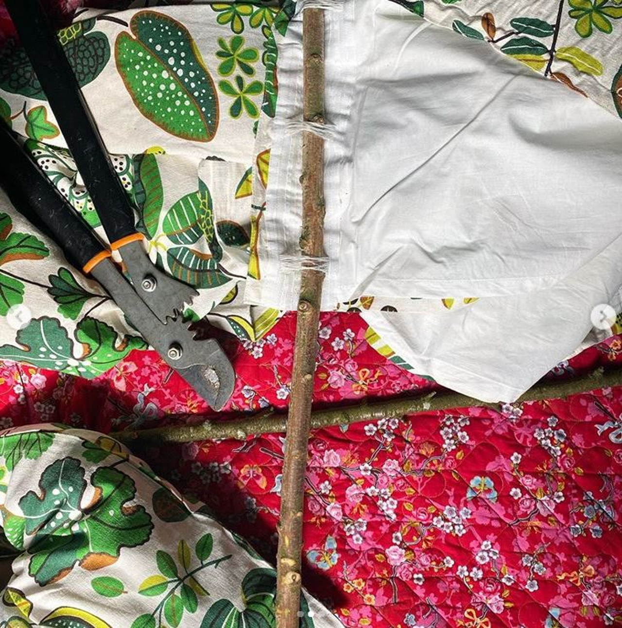Dorota Szelągowska pokazała karnisz z gałęzi brzozy.