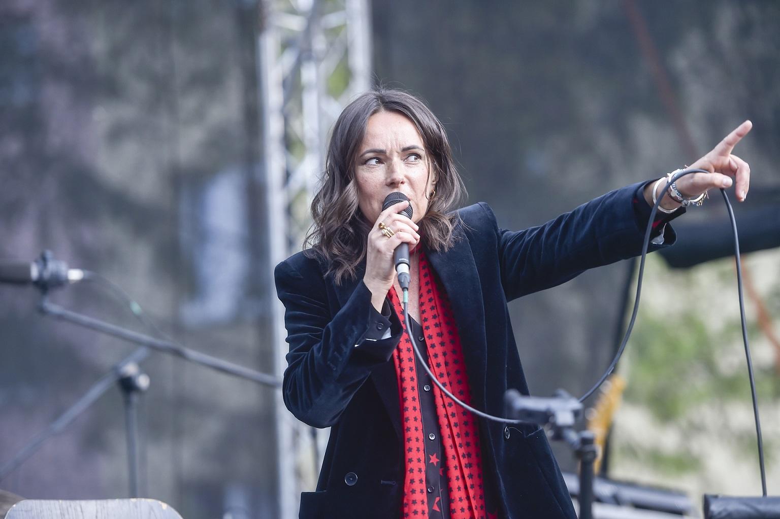 Kasia Kowalska dała koncert w Ciechanowie, w czasie pandemii koronawirusa.
