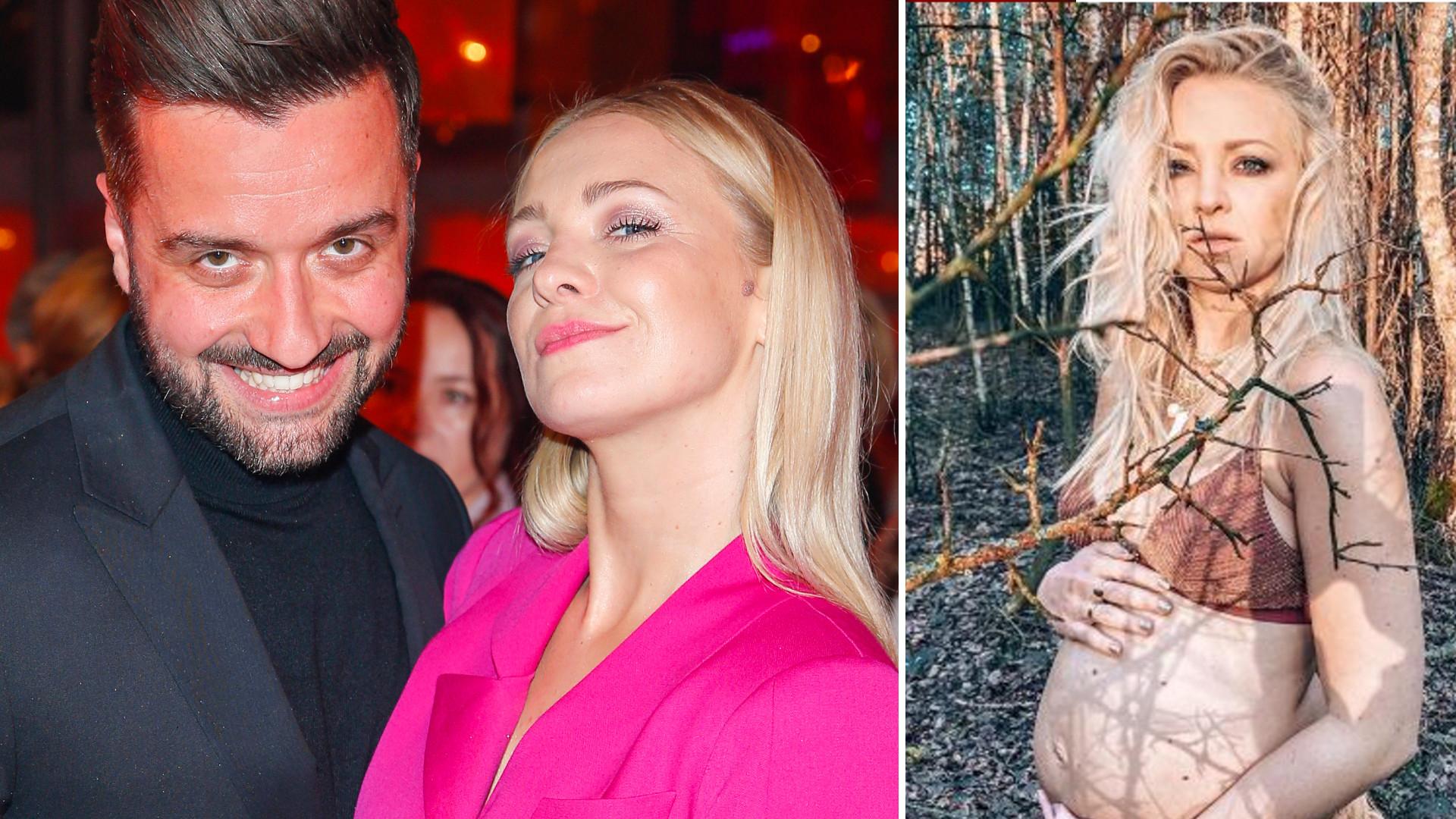Basia Kurdej-Szatan w biustonoszu pokazuje nagi ciążowy brzuszek