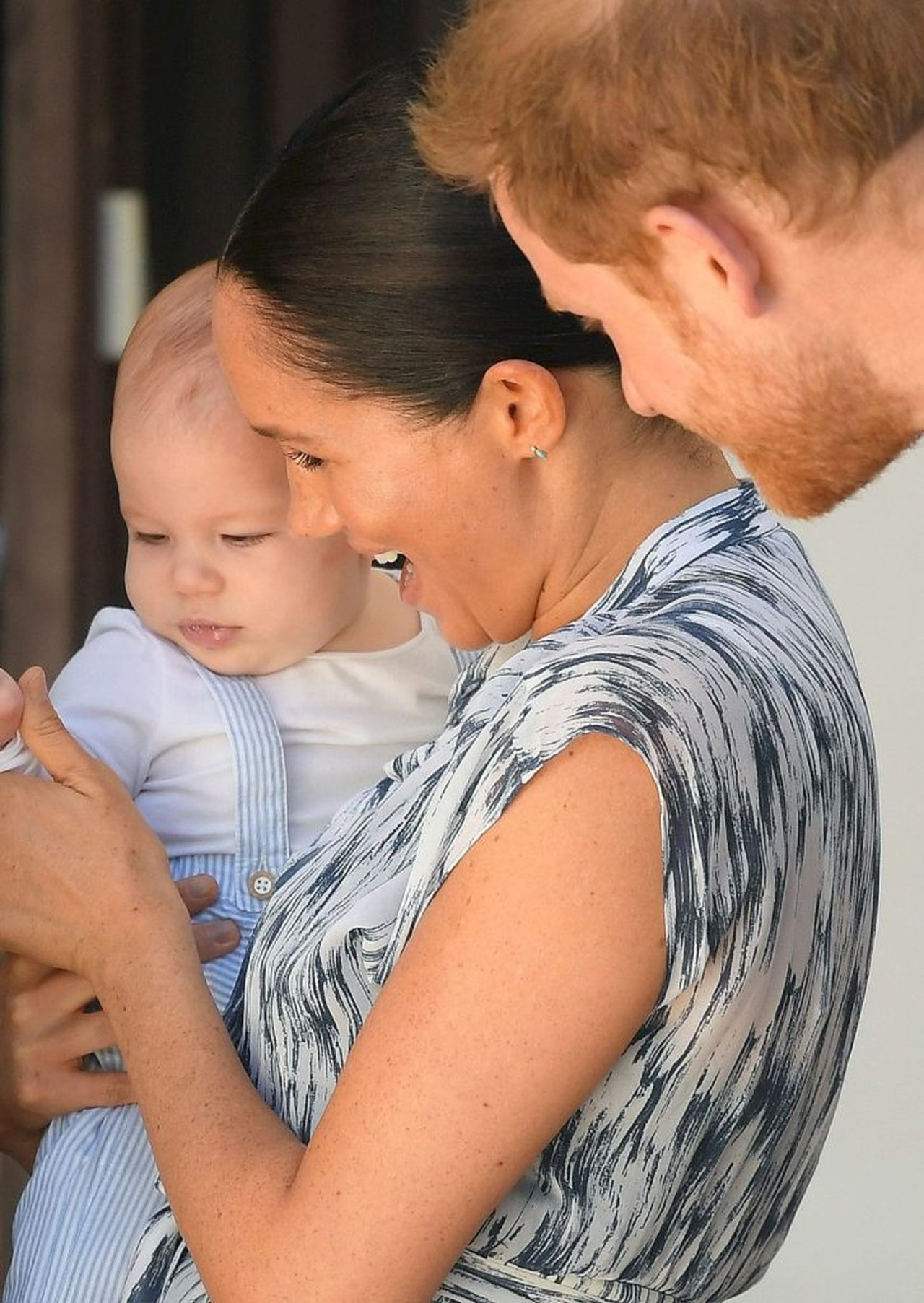 Meghan Markle i książę Harry z synem