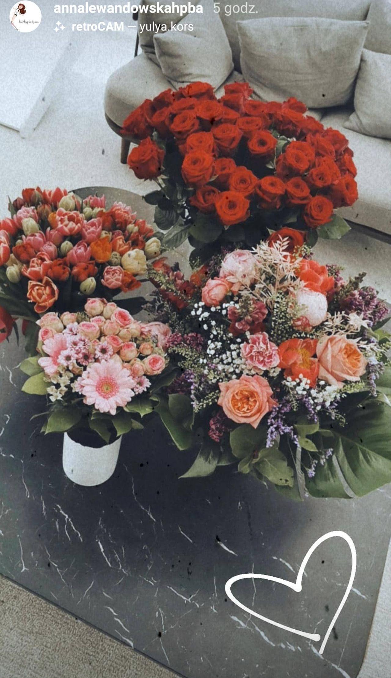 Bukiety kwiatów Anny Lewandowskiej