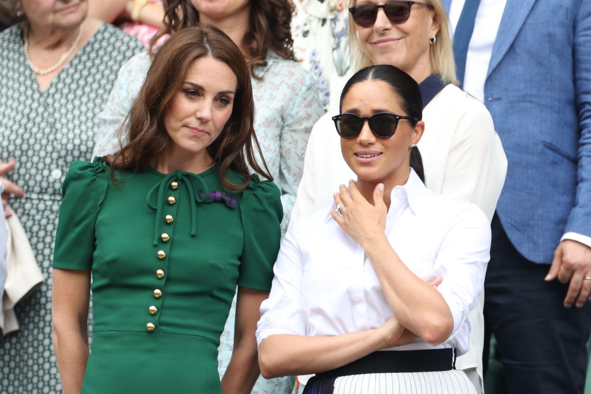 Księżna Kate i Meghan Markle na Wimbledonie