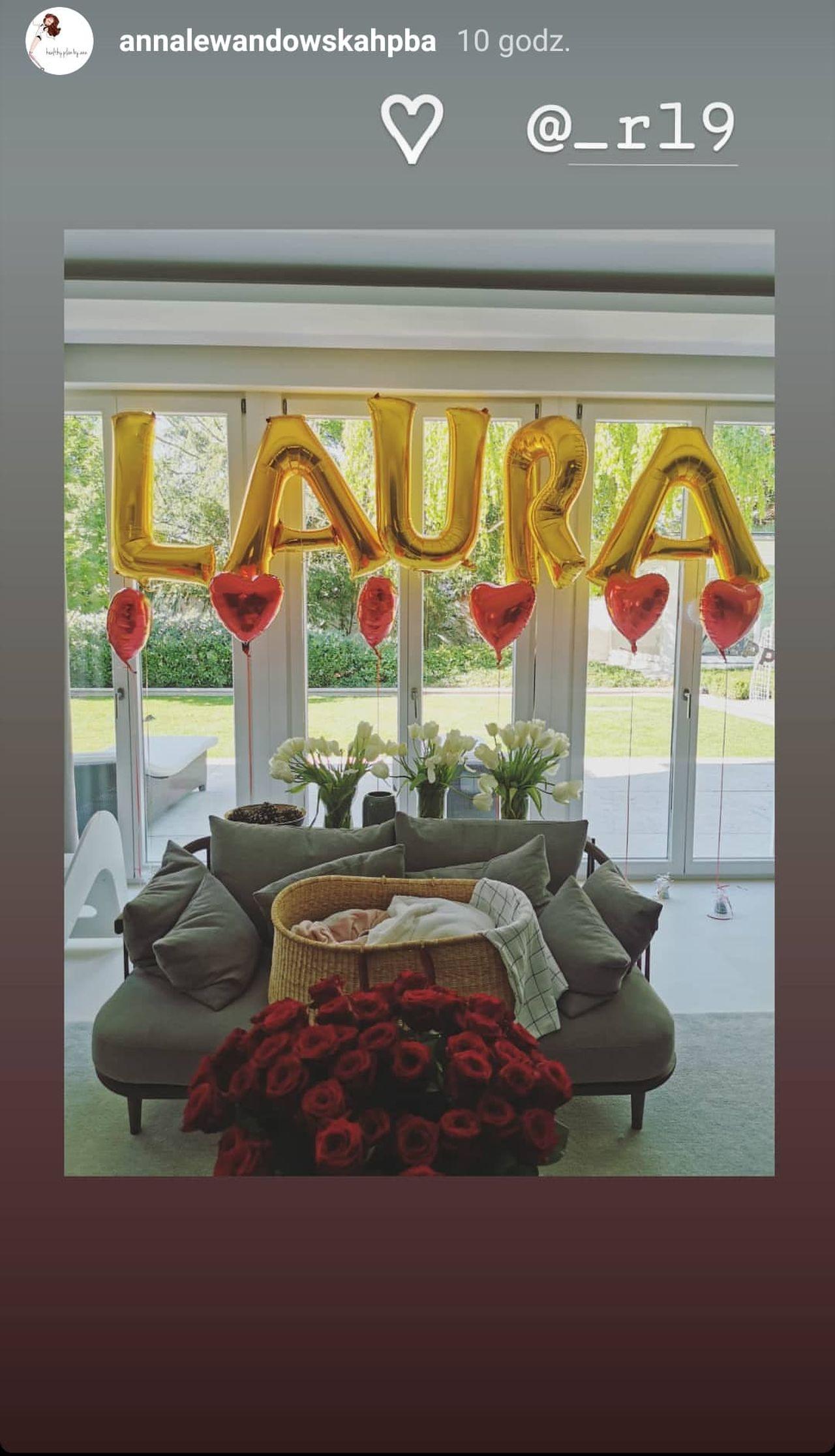 Powitanie Laury Lewandowskiej