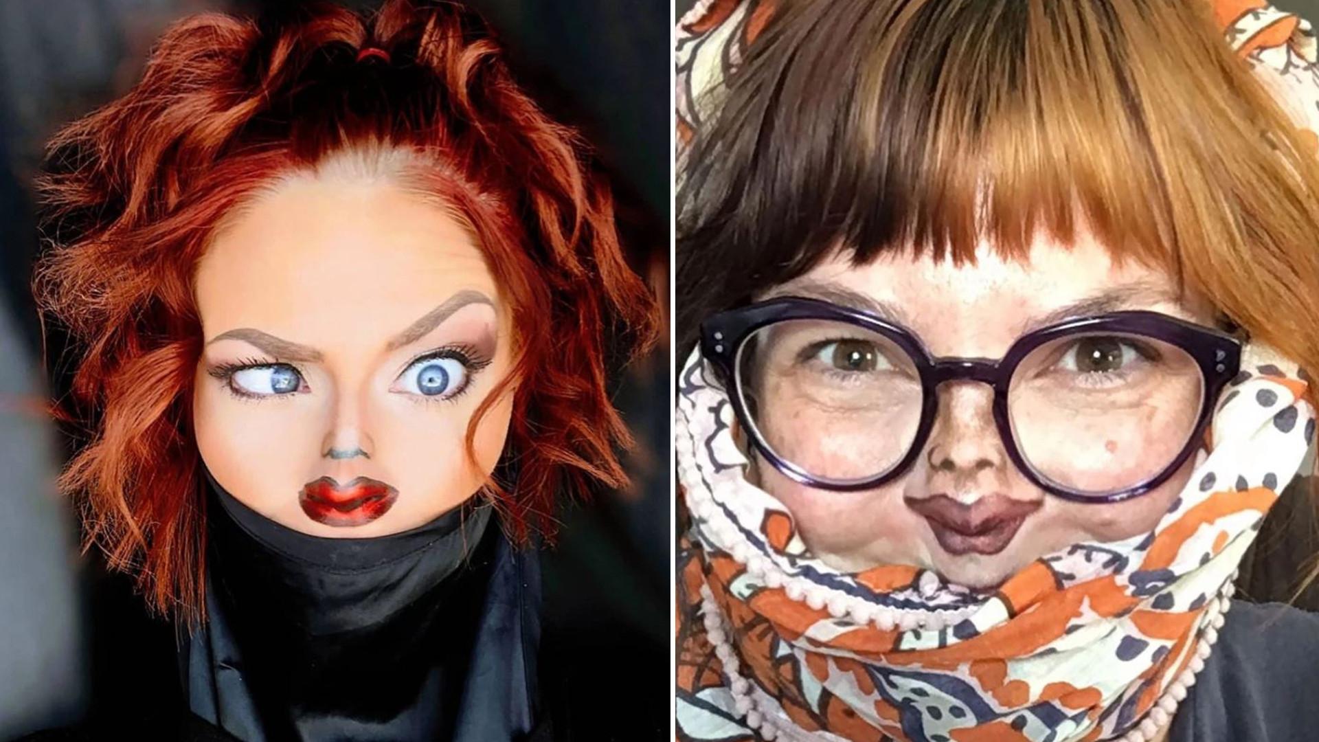 Makijaże ze złudzeniem optycznym