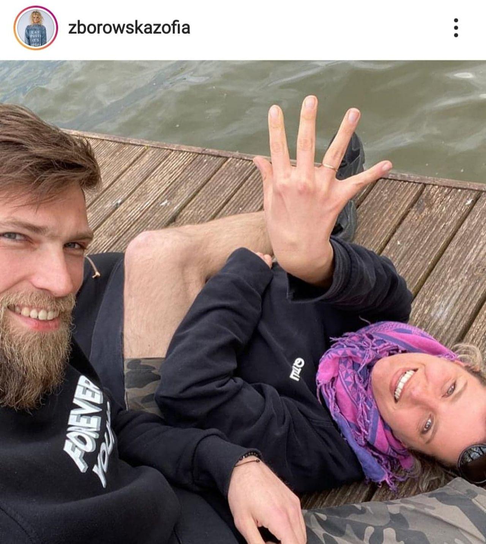 Andrzej Wrona i Zofia Zborowska na mostku