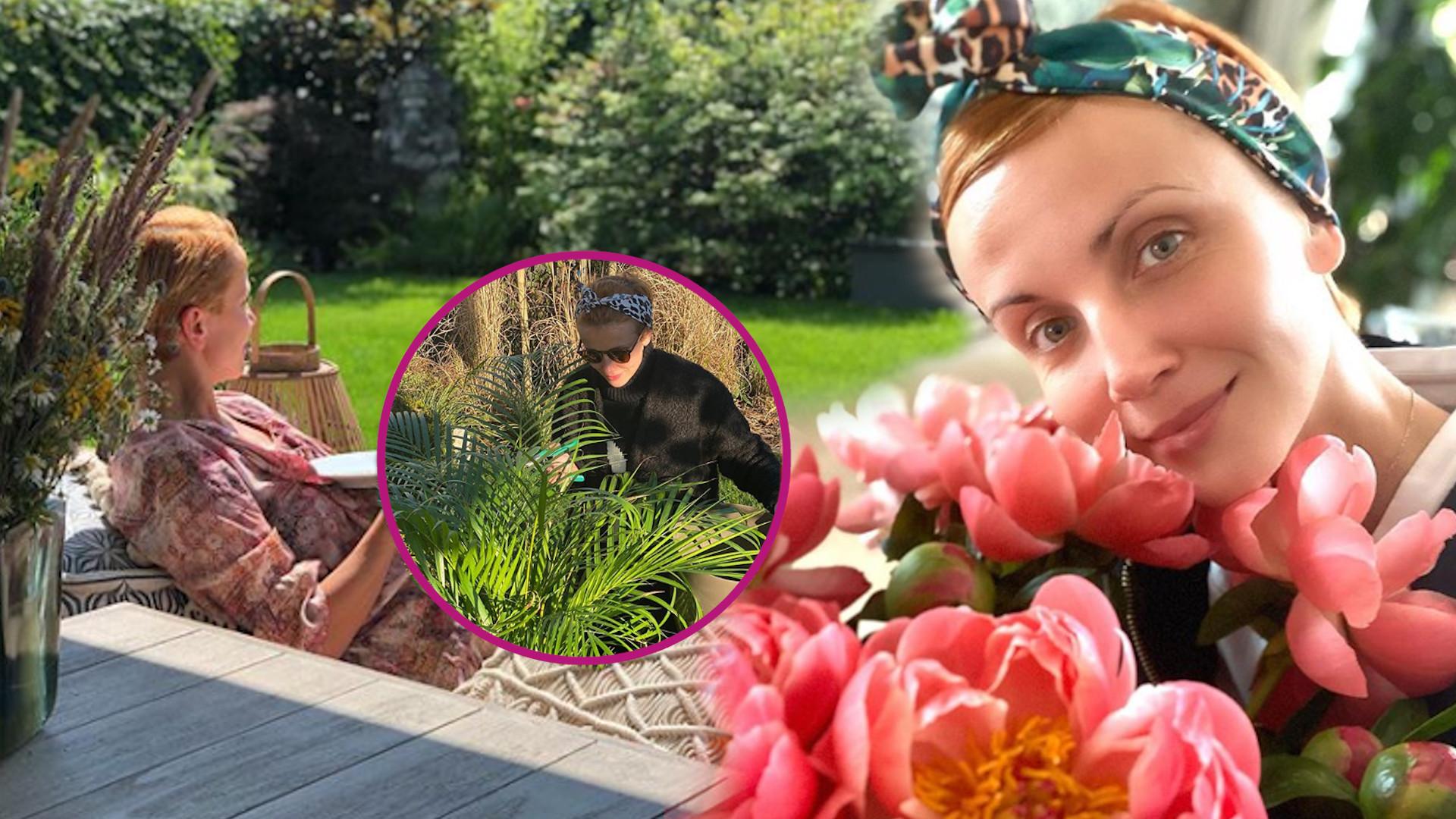 Piękny ogród Katarzyny Zielińskiej. Dzieci mają GENIALNY domek do zabaw