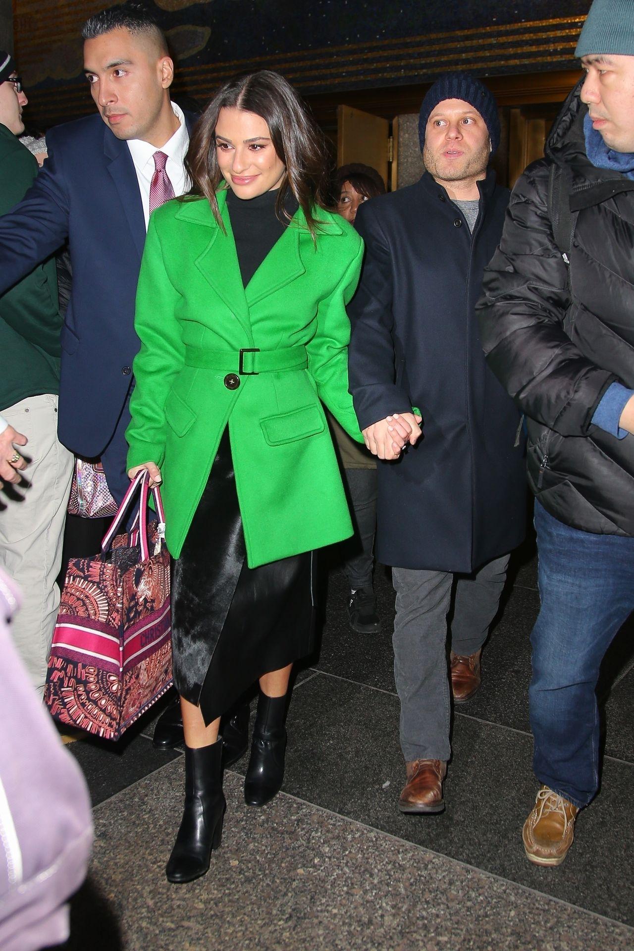 Lea Michele z mężem, grudzień 2019