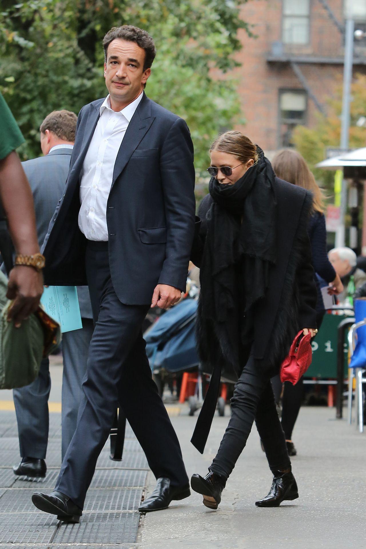 Mary-Kate Olsen z ówczesnym narzeczonym, Olivierem Sarkozym, Nowy Jork 2014 rok