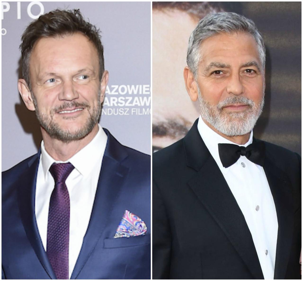 Cezary Pazura, George Clooney mają tyle samo lat.