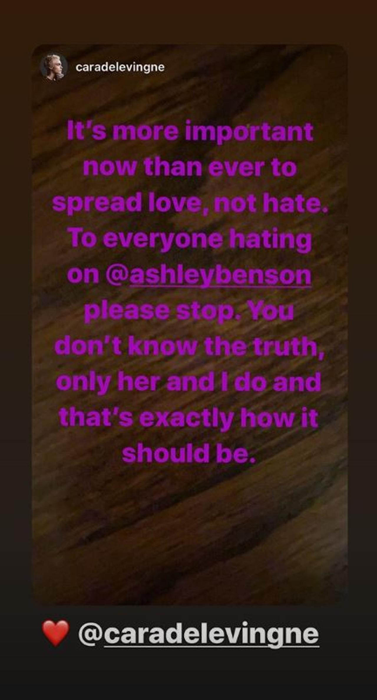 Cara Delevingne opublikowała oświadczenie na temat swojej ex.