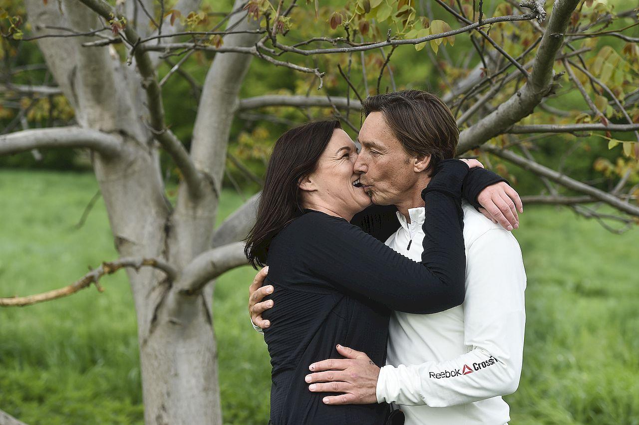 Ilona Felicjańska i Paul Montana zachowywali się jak para zakochanych nastolatków