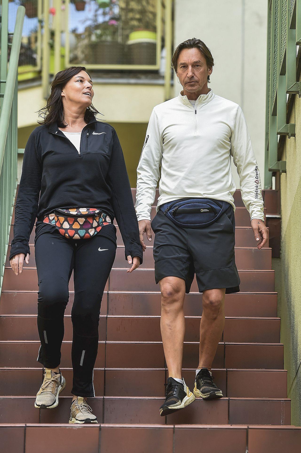 Ilona Felicjańska i Paul Montana na wspólnym treningu