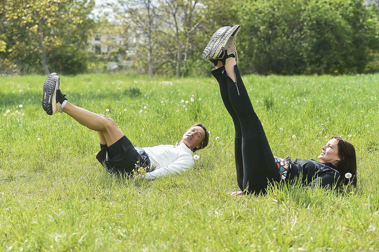 Ilona Felicjańska i Paul Montana ćwiczyli w plenerze