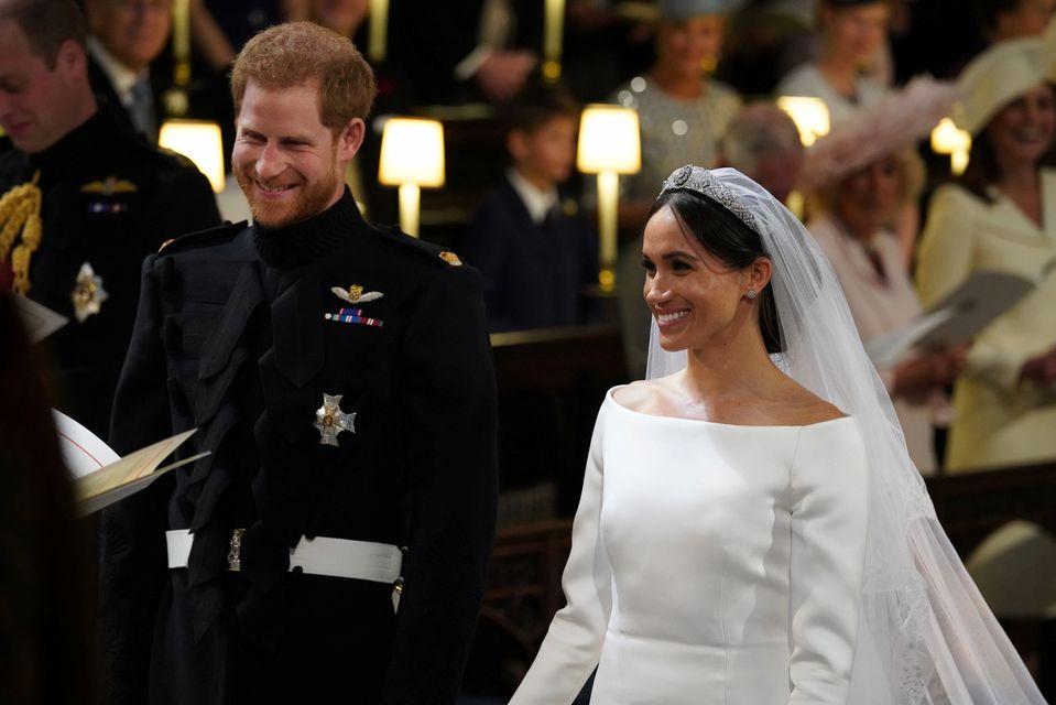 Meghan Markle i książę Harry na swoim ślubie