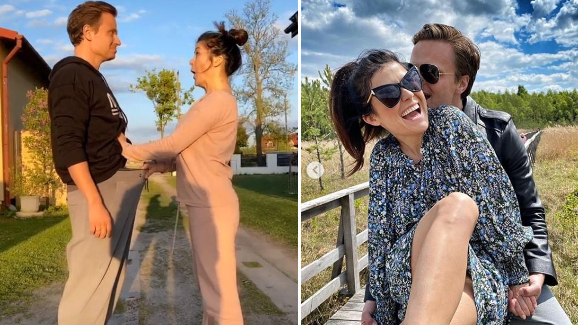 Katarzyna Cichopek na Tik Tok'u zagląda mężowi do spodni!