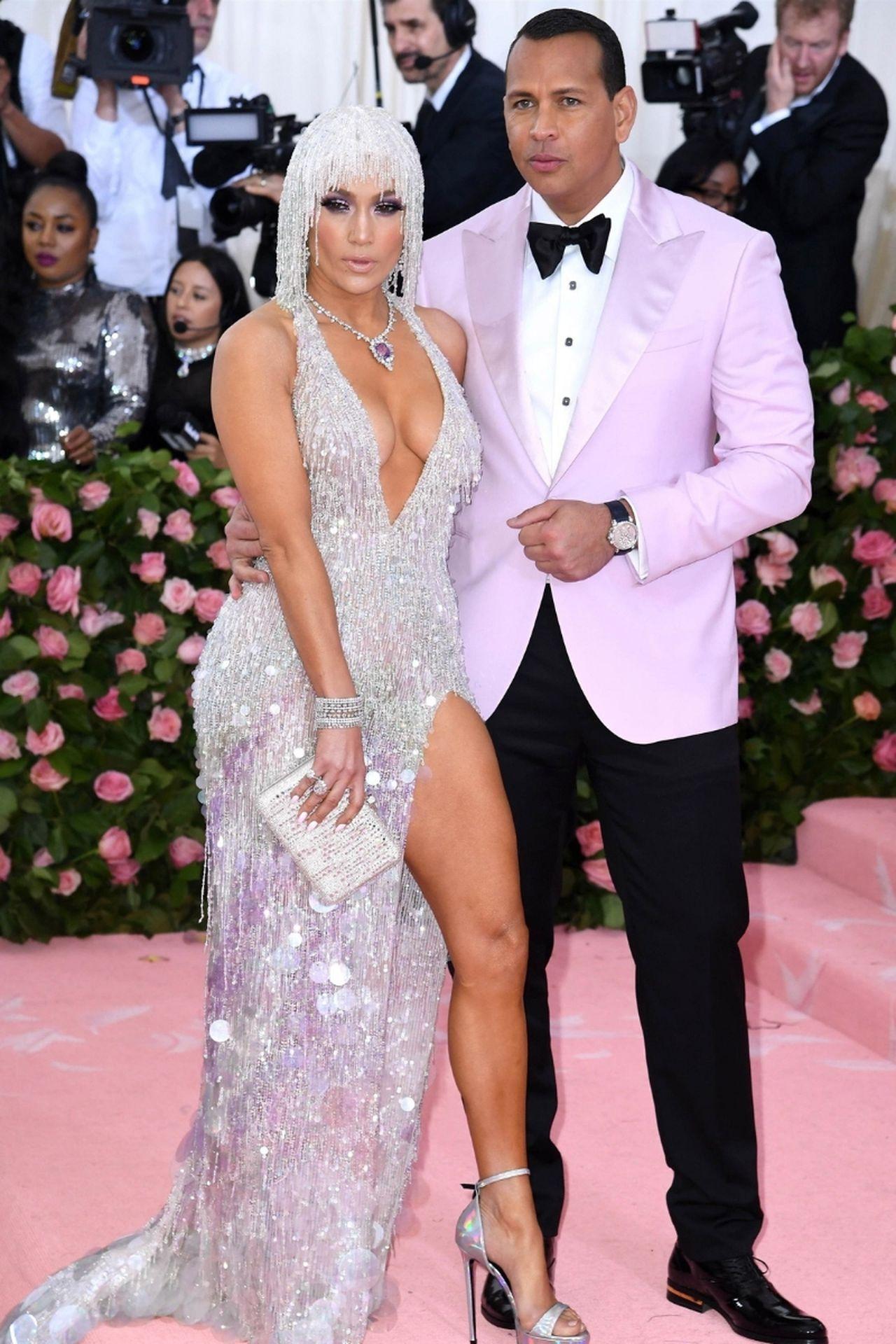 Jennifer Lopez, Alex Rodriguez na różowym dywanie
