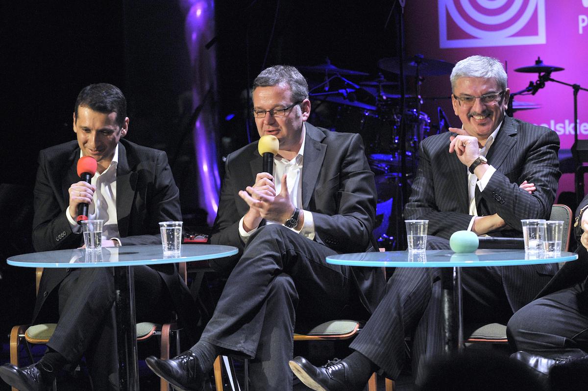 Marcin Łukawski, Artur Andrus, Marek Niedźwiedzki. Fot. Gałązka/AKPA
