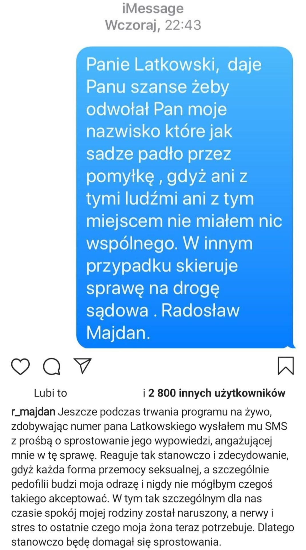Wpis Radosława Majdana
