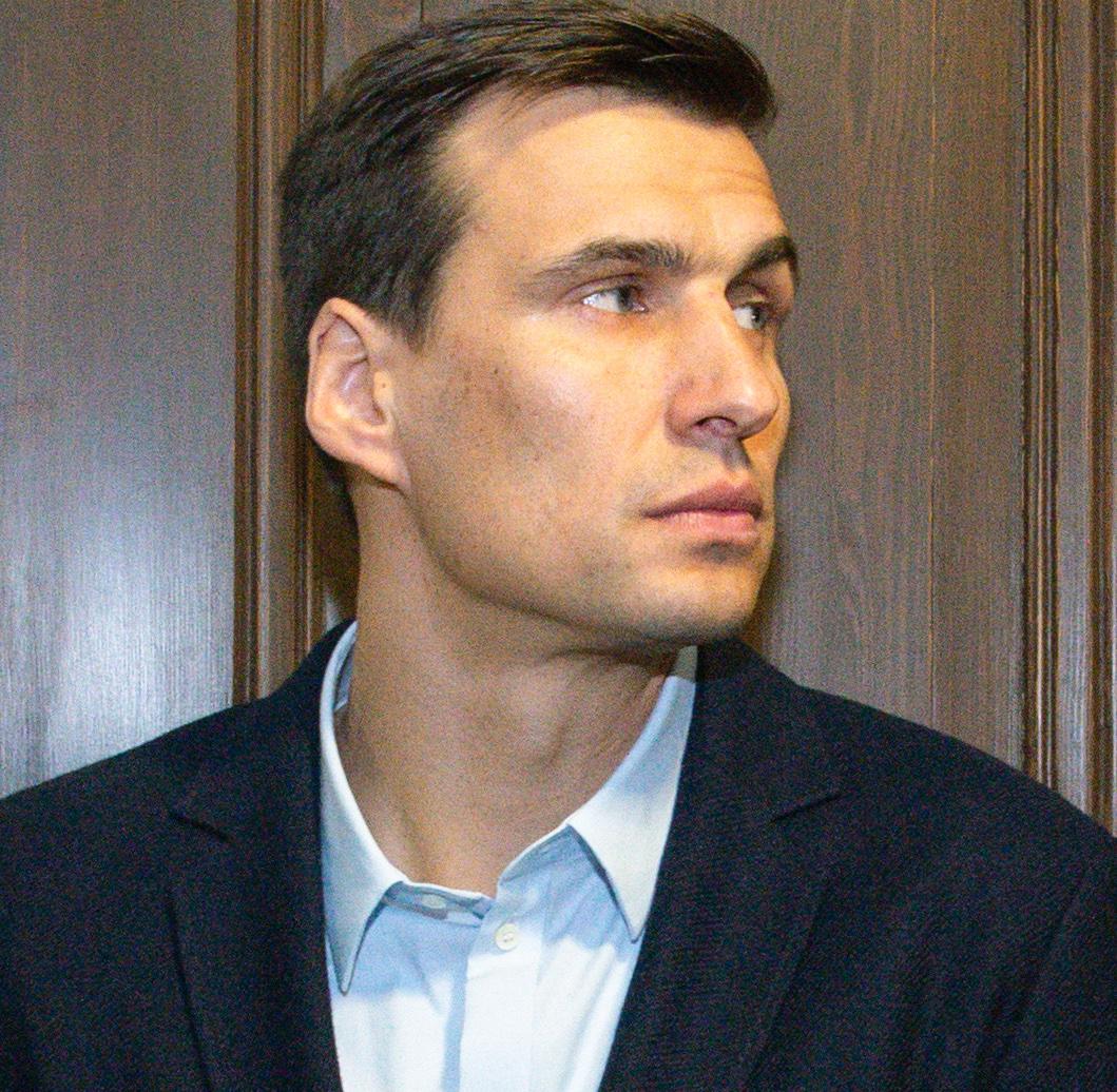 Jarosław Bieniuk na rozprawie sądowej.